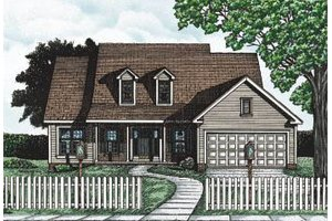 Dream House Plan - Traditional Exterior - Front Elevation Plan #20-107