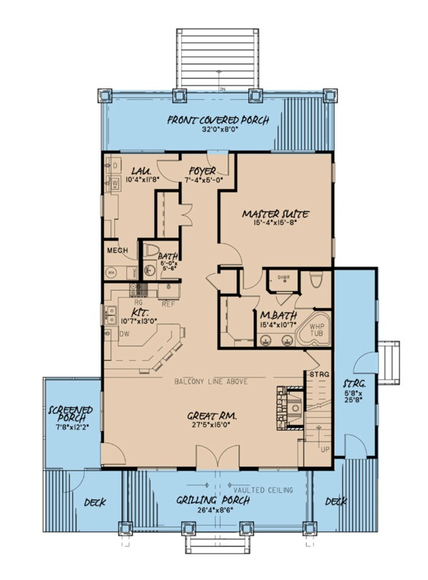 Farmhouse Floor Plan - Main Floor Plan Plan #923-91