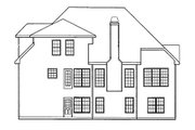 Traditional Style House Plan - 4 Beds 2.5 Baths 1874 Sq/Ft Plan #927-7 Exterior - Rear Elevation