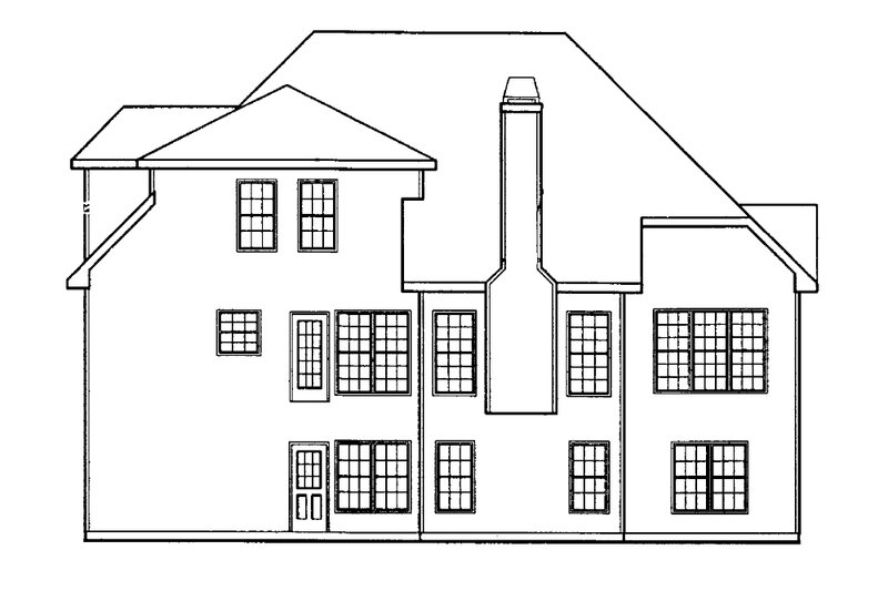 Traditional Exterior - Rear Elevation Plan #927-7 - Houseplans.com