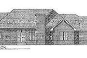 Traditional Style House Plan - 3 Beds 2 Baths 2350 Sq/Ft Plan #70-371 Exterior - Rear Elevation