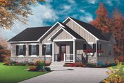 Ranch Style House Plan - 2 Beds 1 Baths 1179 Sq/Ft Plan #23-2678 Exterior - Front Elevation