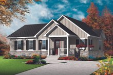 Architectural House Design - Ranch Exterior - Front Elevation Plan #23-2678