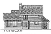 Traditional Style House Plan - 3 Beds 2.5 Baths 1912 Sq/Ft Plan #70-238 Exterior - Rear Elevation