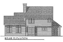 Dream House Plan - Traditional Exterior - Rear Elevation Plan #70-238