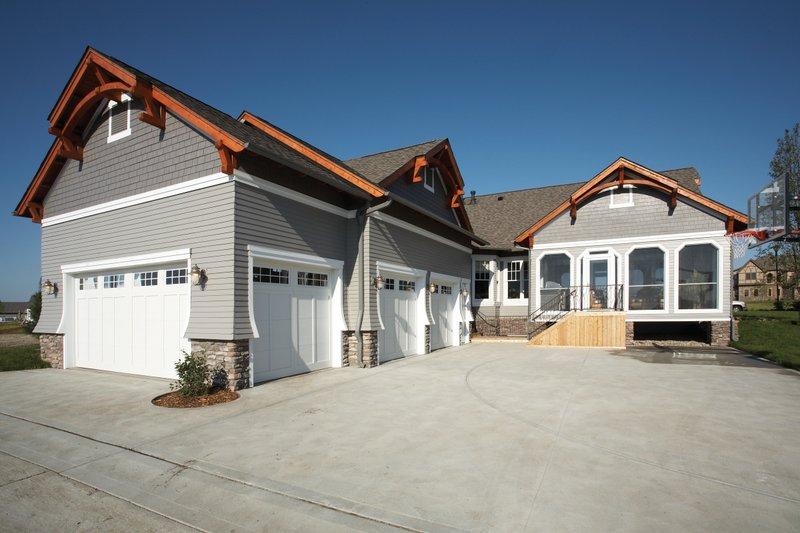 Craftsman Exterior - Rear Elevation Plan #70-1040 - Houseplans.com