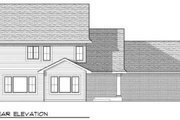 Traditional Style House Plan - 4 Beds 2.5 Baths 2244 Sq/Ft Plan #70-673 Exterior - Rear Elevation