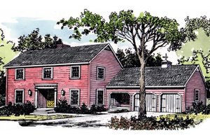 Dream House Plan - Colonial Exterior - Front Elevation Plan #315-101