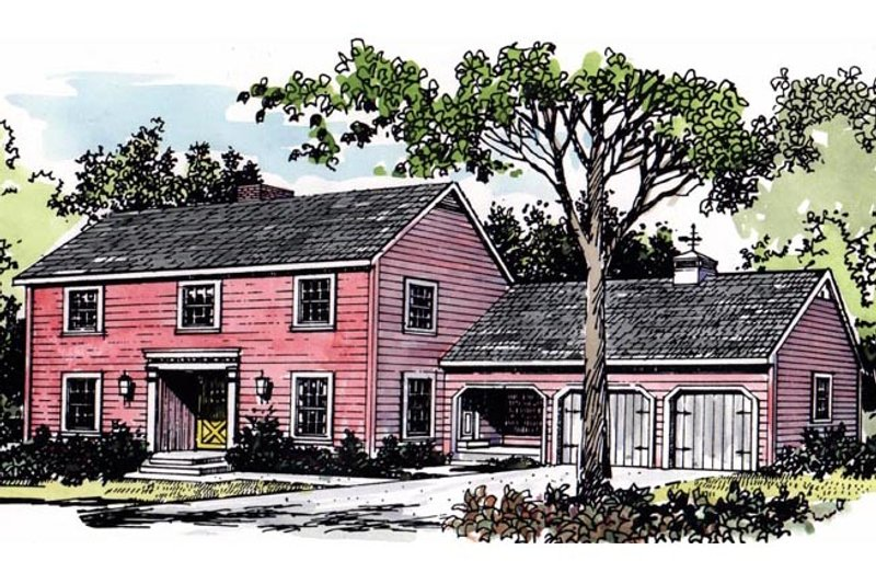 Colonial Exterior - Front Elevation Plan #315-101