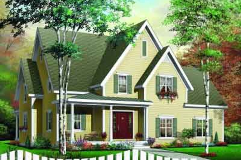 Dream House Plan - Traditional Exterior - Front Elevation Plan #23-532