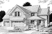 Traditional Style House Plan - 4 Beds 2.5 Baths 2241 Sq/Ft Plan #20-373 Exterior - Front Elevation