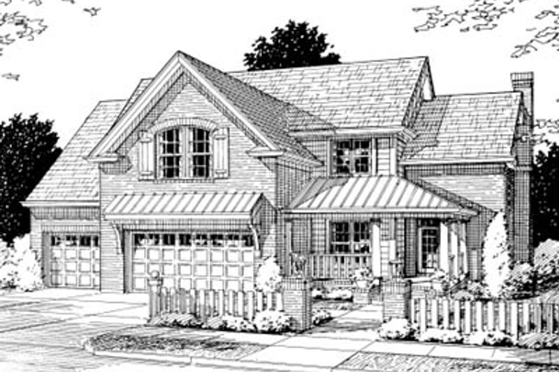 Traditional Exterior - Front Elevation Plan #20-373 - Houseplans.com