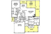 Traditional Style House Plan - 3 Beds 2 Baths 1842 Sq/Ft Plan #20-161 Floor Plan - Main Floor Plan