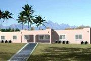 Adobe / Southwestern Style House Plan - 4 Beds 2 Baths 2048 Sq/Ft Plan #1-1408