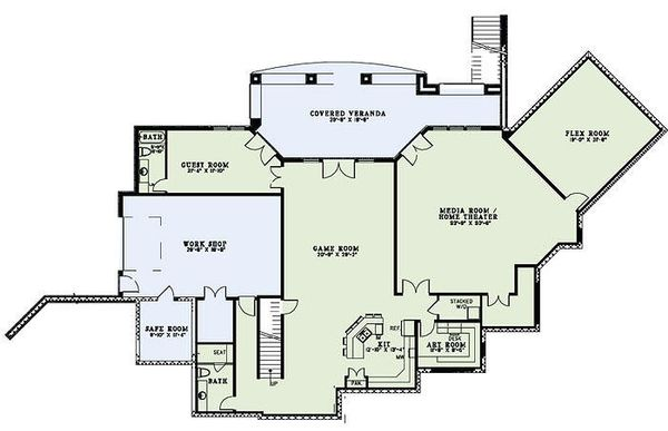 European Floor Plan - Lower Floor Plan Plan #17-2460