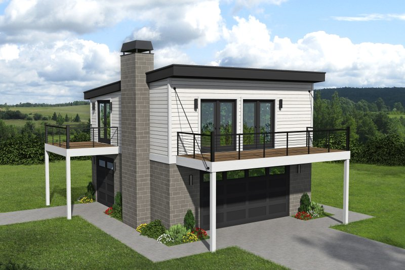 Architectural House Design - Contemporary Exterior - Front Elevation Plan #932-46