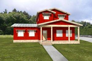 Energy efficient farmhouse - front elevation