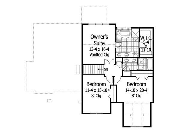 Craftsman Floor Plan - Upper Floor Plan #51-419
