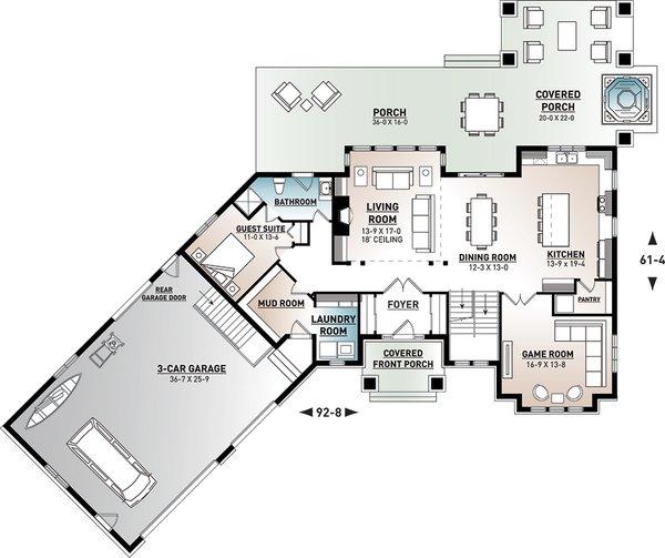 Traditional Floor Plan - Main Floor Plan #23-2311