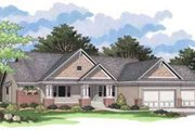Traditional Style House Plan - 3 Beds 2.5 Baths 3772 Sq/Ft Plan #51-208 Exterior - Front Elevation