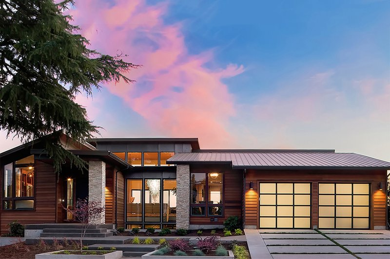Modern Exterior - Front Elevation Plan #48-457