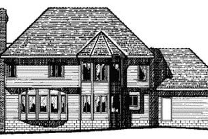 Southern Exterior - Rear Elevation Plan #20-1106 - Houseplans.com