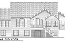 Dream House Plan - Traditional Exterior - Rear Elevation Plan #70-785