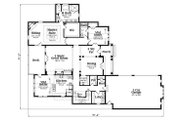 European Style House Plan - 4 Beds 5.5 Baths 3892 Sq/Ft Plan #419-304 Floor Plan - Main Floor Plan