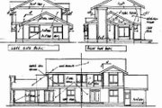 Traditional Style House Plan - 3 Beds 2.5 Baths 1695 Sq/Ft Plan #60-306 Exterior - Rear Elevation