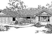 Ranch Style House Plan - 2 Beds 2.5 Baths 1499 Sq/Ft Plan #60-144 Exterior - Front Elevation