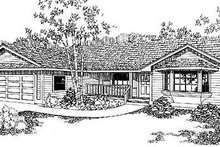 House Plan Design - Ranch Exterior - Front Elevation Plan #60-144