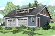Craftsman Style House Plan - 0 Beds 0 Baths 538 Sq/Ft Plan #124-800 Exterior - Front Elevation