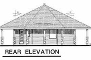 Contemporary Style House Plan - 1 Beds 1 Baths 695 Sq/Ft Plan #18-1051 Exterior - Rear Elevation