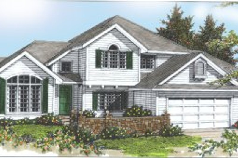 Traditional Exterior - Front Elevation Plan #97-220 - Houseplans.com