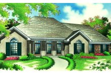 Home Plan - European Exterior - Front Elevation Plan #45-361