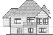 European Style House Plan - 4 Beds 3 Baths 2897 Sq/Ft Plan #70-710 Exterior - Rear Elevation