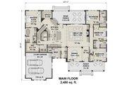 Farmhouse Style House Plan - 4 Beds 3.5 Baths 2480 Sq/Ft Plan #51-1144 Floor Plan - Main Floor Plan