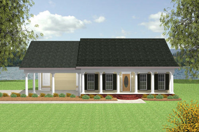 Cottage Style House Plan - 2 Beds 1.5 Baths 1152 Sq/Ft Plan #44-149 Exterior - Front Elevation