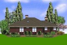 Contemporary Exterior - Rear Elevation Plan #48-429