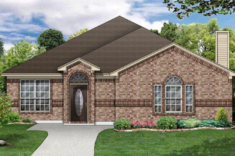 Traditional Exterior - Front Elevation Plan #84-354 - Houseplans.com