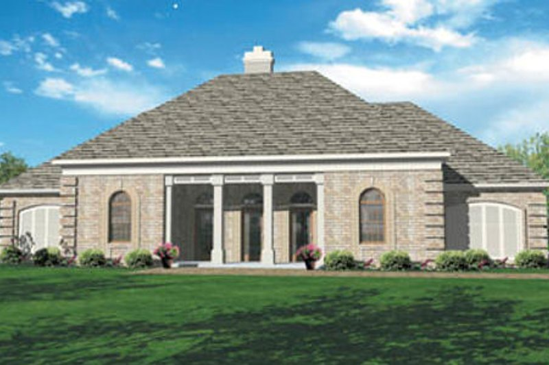 European Exterior - Front Elevation Plan #45-136