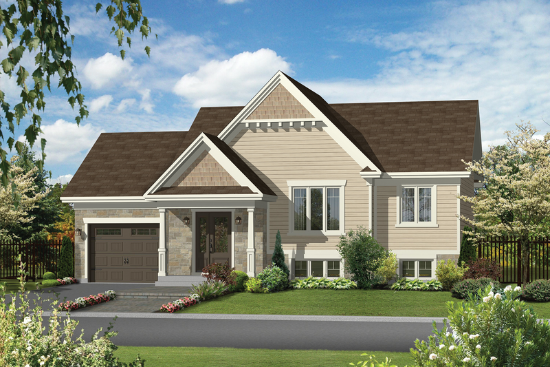 Traditional Style House Plan - 2 Beds 1 Baths 989 Sq/Ft Plan #25-4544 Exterior - Front Elevation