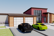 Contemporary Style House Plan - 3 Beds 4 Baths 2381 Sq/Ft Plan #542-18