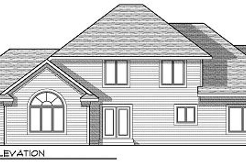 Traditional Exterior - Rear Elevation Plan #70-876 - Houseplans.com