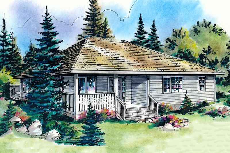 Dream House Plan - Traditional style home, elevation