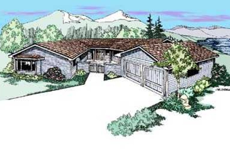 Dream House Plan - Traditional Exterior - Front Elevation Plan #60-478