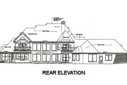 European Style House Plan - 5 Beds 5 Baths 5895 Sq/Ft Plan #310-670 Exterior - Rear Elevation