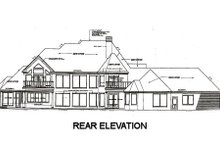 European Exterior - Rear Elevation Plan #310-670
