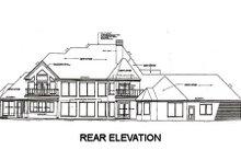 Architectural House Design - European Exterior - Rear Elevation Plan #310-670
