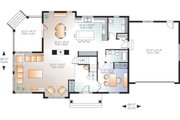 Craftsman Style House Plan - 5 Beds 4 Baths 2521 Sq/Ft Plan #23-2707 Floor Plan - Main Floor Plan
